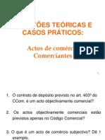 2. Exercícios - actos de comércio e comerciantes