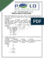 Group II Merit Test Maths..