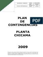 Plan de Contingencias 2009 Chicama ACP