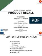 Asean Gmp Recal Module