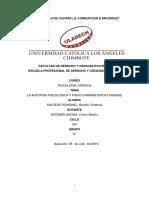 La Autopsia Psicologica y Psico-criminalistica Forense-ps Juridica-brenda Salcedo
