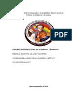 Informe de La UA Caranavi