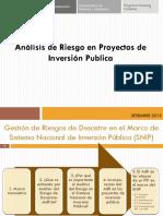 ANÁLISIS DE RIESGO PARA PROYECTOS DE INVERSIÓN