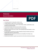 PHE Ammonia General Information