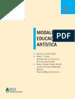 resolucion modalidad educacion artistica argentina 2011