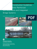Design and Construction Guidelines for Geosynthetic Reinforced Soil Abutments and Integrated Bridge Systems