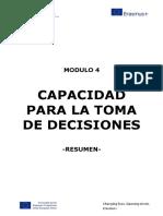 capacidad para la toma de decision
