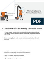 A Complete Guide to Write a Position Paper (www.myassignmenthelp.com)