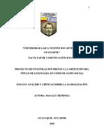 Análisis y Críticas de La Globalización-Magaly Mendoza