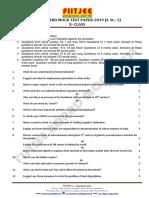 Cbse Board Mock Test Paper-2019 (s. St.-1) Class-x