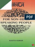 Hindi for Non-Hindi Speaking People by Kavita Kumar