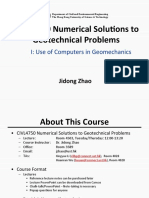 CIVL4750 Numerical Solutions to Geotechnical Problems Lecture 1
