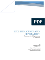 Size Reduction and Size Separation