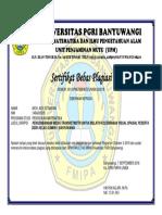 Sertifikat Bebas Plagiasi Universitas Pgri Banyuwangi