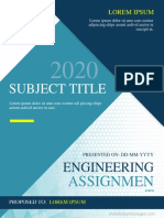 Engineering Assignment Cover Page 3