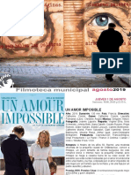 FILMOTECA de Coslada / Programación de Agosto 2019
