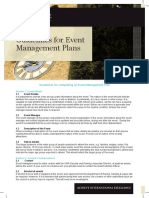 Event Managment Plan Guidelines