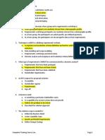 Business Analysis Practice Exam (Key)