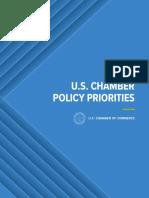 U. S CHAMBER POLICY PRIORITIES
