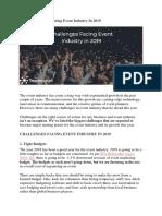 Biggest Challenges Facing Event Industry in 2019