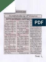 Bulgar, July 23, 2019, Sa pagbubukas ng 18th Congress Sotto sa Senador, Cayetano sa Kamara.pdf