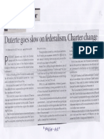 Business Mirror, July 23, 2019, Duterte goes slow on federalism, Charter change.pdf