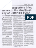 Manila Bulletin, July 23, 2019, Critics supporters bring issues to the streets on day of Duterte's SONA.pdf