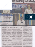 Manila Bulletin, July 23, 2019, We are our own enemy - Duterte.pdf
