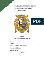 Ensayo Metodologia 2019-1