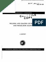 Nickel welding