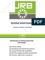 Urb Service Engineering Mounting Lubrication Dismounting and Maintenance of Bearings May 2016