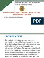 Estrategia Didactica - Aprendizaje Basado en El Pensamiento Creativo