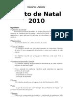 Concurso Literário Natal 2009- Regulamento