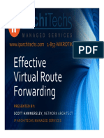 Effective Virtual Routing and forwarding
