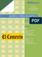 Alerta Bibliográfica Setiembre14