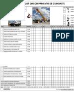 Check List Chave Impacto Eletrica (Torquiadeira)