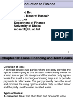 Chapter - 10 Lease and Term Loans