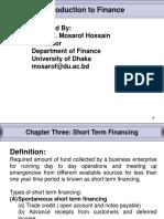Chapter - 3 Short Term Financing