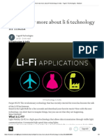 Get to Know More About Li Fi Technology in India