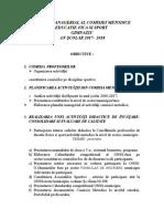 Planul Managerial Al Comisiei Metodice