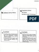 Traditional Training Method