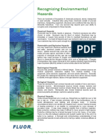 E - Recognizing Environmental Hazards
