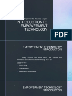 EMPOWERMENT TECHNOLOGY Lesson 1 - Introduction to Empowerment Technology