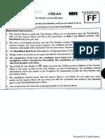2018 NEET Question Paper Code FF