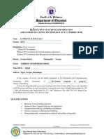 Application Designation of ICT Coordinator