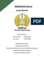 Kelompok 2 Fitrotun Nisa Nur Azlina Pendidikan Nilai Alan Bishop1