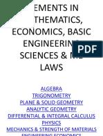 Elements in Mathematics, Economics, Basic Engineering (1)