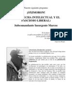Subcomandante Marcos, Oxímoron - 04_2000