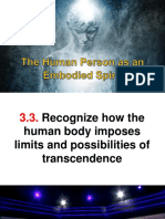 Human Person as an Embodied Spirit 3.3.
