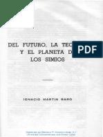 Del futuro, la técnica y el planeta de los simios (Martín-Baró)